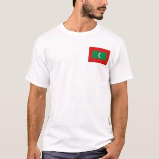 Les Maldives marquent et tracent le T-shirt