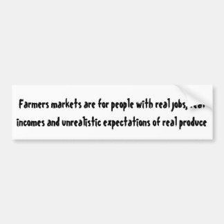 Les marchés d'agriculteurs sont pour des personnes autocollant de voiture