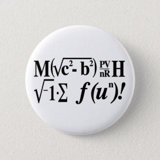 Les maths sont amusement ! badge rond 5 cm