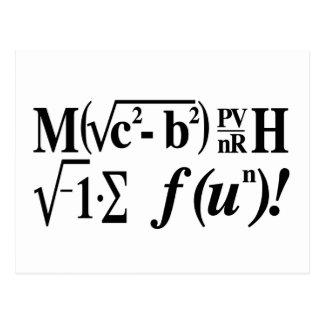Les maths sont amusement ! carte postale