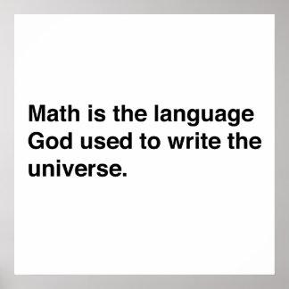 Les maths sont langue de dieux
