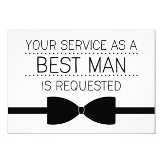 Les meilleurs garçons d'honneur de la demande | carton d'invitation 8,89 cm x 12,70 cm