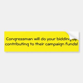 Les membres du Congrès répondent aux donations Autocollant De Voiture