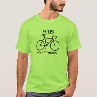 Les milles sont ma thérapie t-shirt