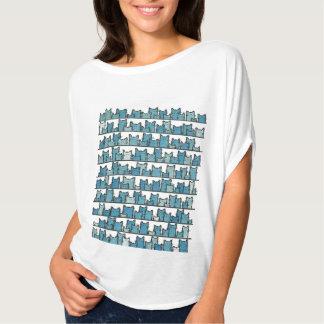 Les minous ne me font pas le T-shirt bleu