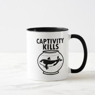 Les mises à mort de captivité, libèrent la tasse
