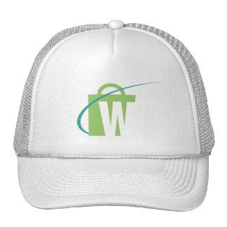 Les mondes plus grands : Blanc de chapeau de W Casquette De Camionneur