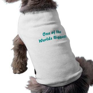 Les mondes plus grands Blanc de manteau de chiot Manteaux Pour Animaux Domestiques