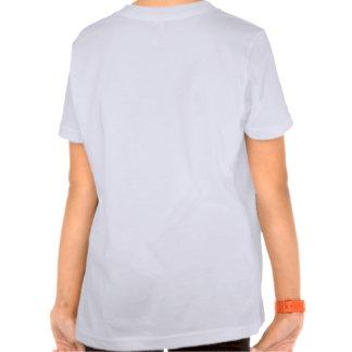 Les mondes plus grands : Blanc des filles T avec T-shirt