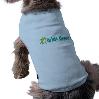 Les mondes plus grands : Bleu de manteau de chiot Tee-shirt Pour Animal Domestique