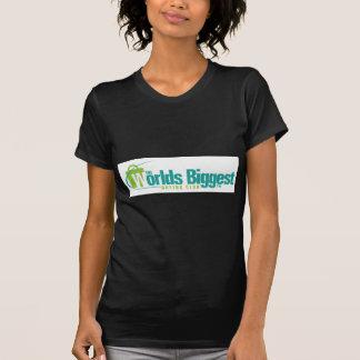 Les mondes plus grands : Noir adapté de la pièce Tee-shirt