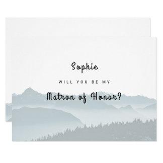Les montagnes brumeuses soient ma carte de dame de