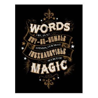 Les mots du charme | de Harry Potter sont notre la Carte Postale