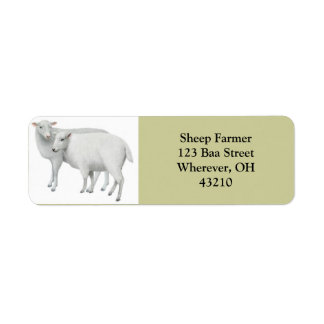 Les moutons couplent personnalisable étiquette d'adresse retour