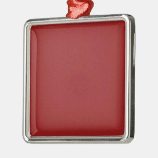 Les nuances vides simples do-it-yourself de rouge ornement carré argenté