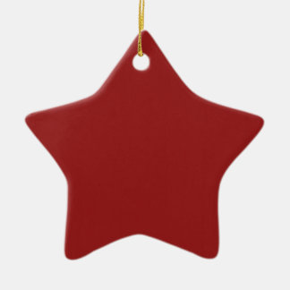 Les nuances vides simples do-it-yourself de rouge ornement étoile en céramique