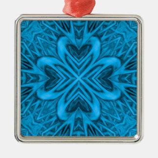 Les ornements vintages de kaléidoscope de bleus