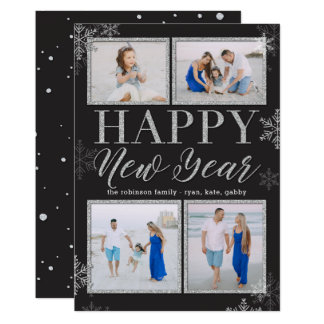 Les parties scintillantes encadrent le carte photo carton d'invitation  12,7 cm x 17,78 cm