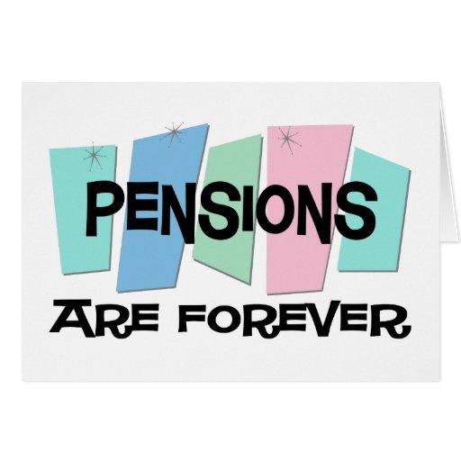 Les pensions sont Forever Cartes