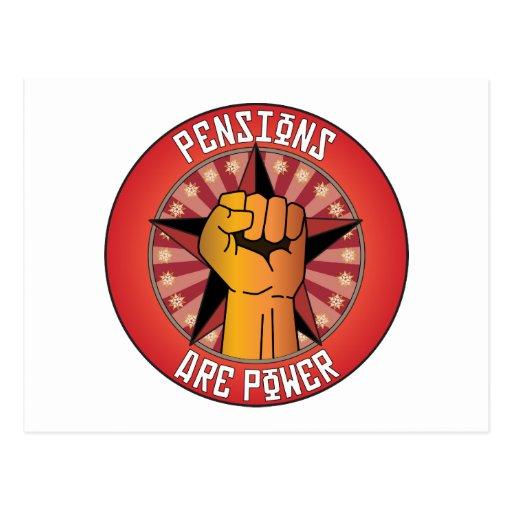 Les pensions sont puissance carte postale
