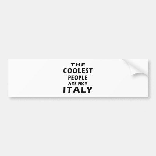Les personnes les plus fraîches sont l'Italie Adhésif Pour Voiture