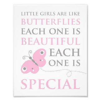 Les petites filles sont comme la copie rose de impression photo