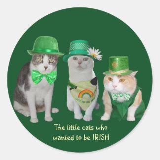 Les petits chats qui ont voulu être les sticker rond