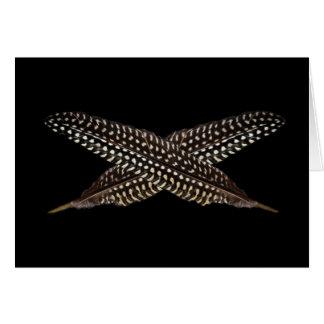 Les plumes sont des symboles de l'ascension carte
