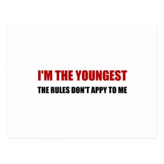 Les plus jeunes règles ne s'appliquent pas carte postale
