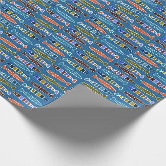 Les poissons modèlent le papier d'emballage papier cadeau