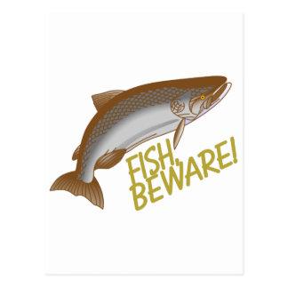 Les poissons prennent garde cartes postales