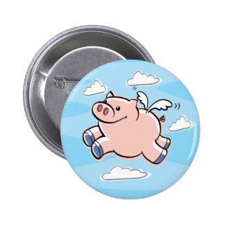 Les porcs pilotent le bouton badge rond 5 cm