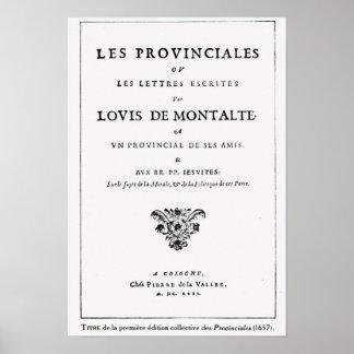 Les Provinciales par Blaise Pascal