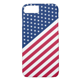 Les rayures blanches bleues rouges des USA tient Coque iPhone 7