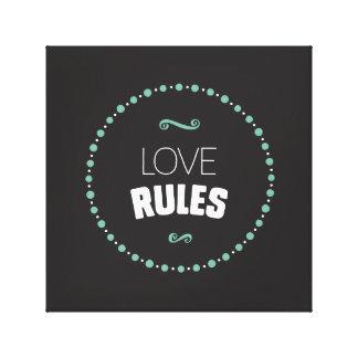 Les règles d'amour ont enveloppé la toile - noir