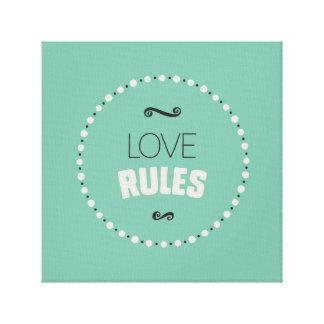 Les règles d'amour ont enveloppé la toile - vert