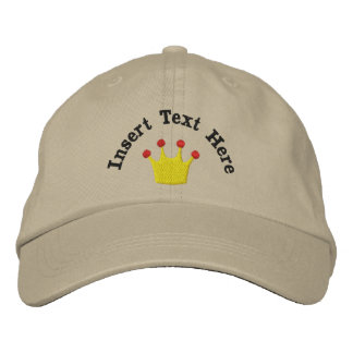 Les Rois Crown Embroidered Hat Chapeaux Brodés