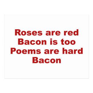 Les roses sont rouges. Le lard est aussi. Les Cartes Postales