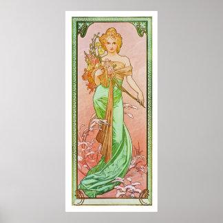 Les saisons : Ressort Printemps, Alphonse 1900 Muc
