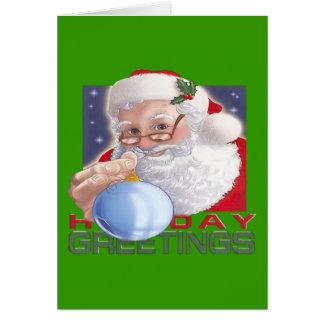 Les salutations de Père Noël - carte de note