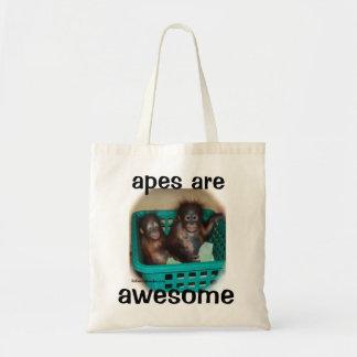 Les singes sont impressionnantes sac en toile budget
