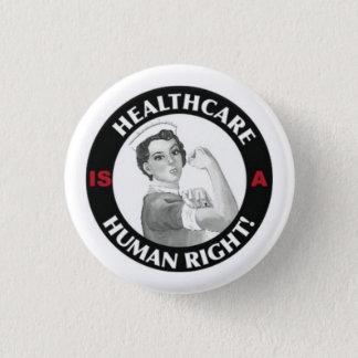 Les soins de santé sont un bouton de droit de badge rond 2,50 cm