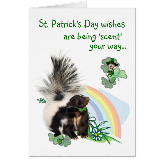 Les souhaits de Jour de la Saint Patrick sont Carte De Vœux
