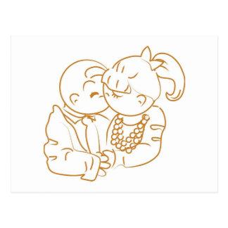 Les souvenirs précieux embrassent d'abord carte postale
