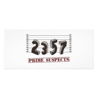 Les suspects de nombre premier modèle de double carte