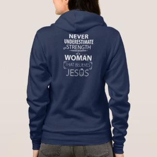 Les sweat - shirts à capuche chrétiens de femmes