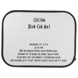 Les tapis faits sur commande de voiture (arrière)