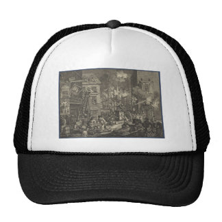 Les temps par William Hogarth Casquette Trucker