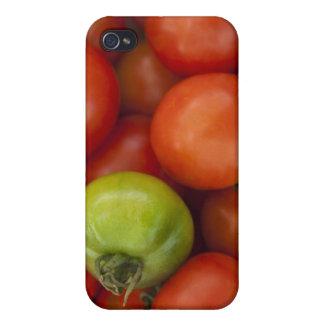 Les tomates rouges et vertes avec a à vendre étuis iPhone 4