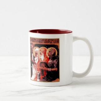 Les trois sages. Tasse de cadeau de Noël
